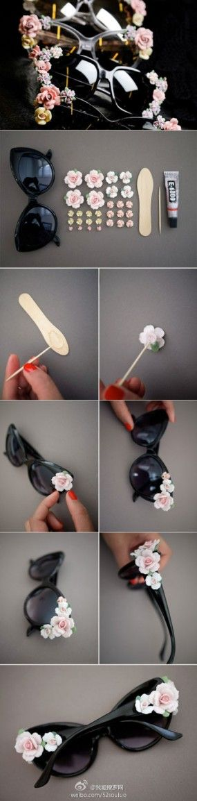 Great idea for bridesmaids' gift bag. Would be cute for pictures. use polymer clay or resin cl.ay roses