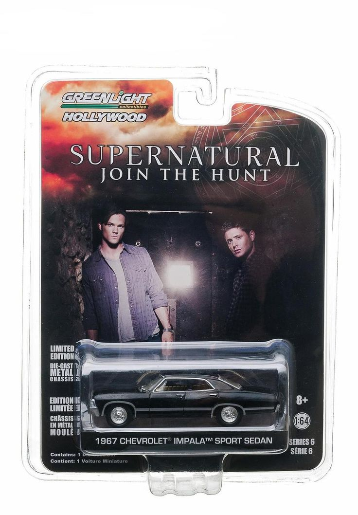 1967 Chevrolet Impala Sedan 4 Doors Black From Supernatural 2005 Current TV Series 1/64