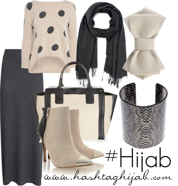 Hashtag Hijab Outfit #136. Take out the heels and put in some flats or boots