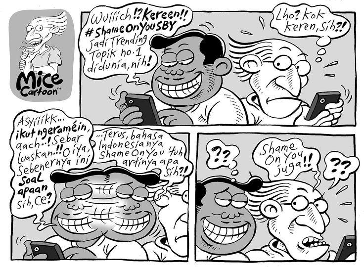 Mice Cartoon, Kompas 28 Sep 2014: #ShameOnYouSBY itu apa sih?