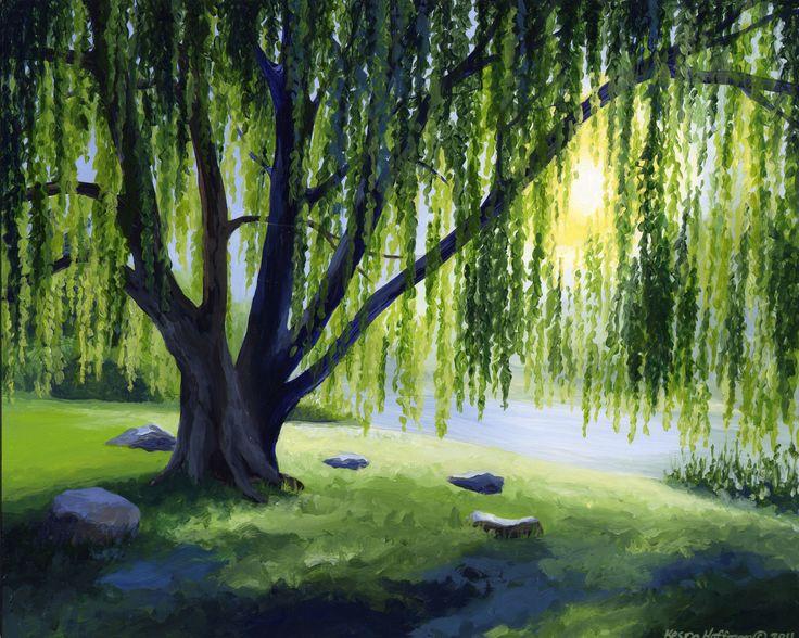 nature acrylic paintings