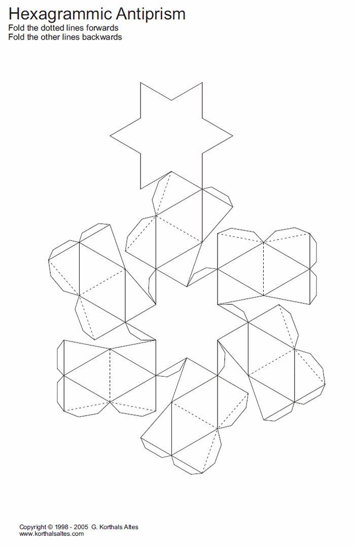 Desarrollo Plano De Un Antiprisma Hexagrammic