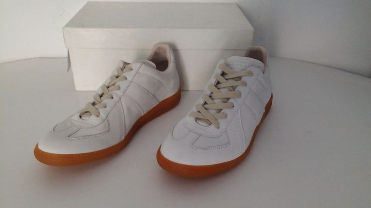 BNIB MAISON MARTIN MARGIELA 22 WHITE LEATHER SNEAKERS sz 40 #MAISONMARTINMARGIELA #SNEAKERS