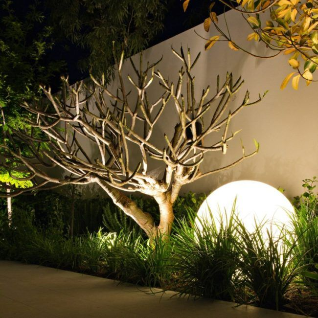 Fabulous large round garden lighting Creative Lighting Forget the poles coloured fairy lights and spotlights Modern garden lights are bold and innovative