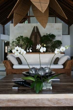 Villa Aqua at Canggu - Bali... Orchids, cane - gorgeous.