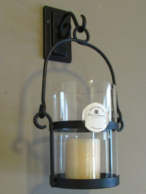 Home Interiors Wrought Iron Wall Sconce Candle Holder 12892 Rustic
