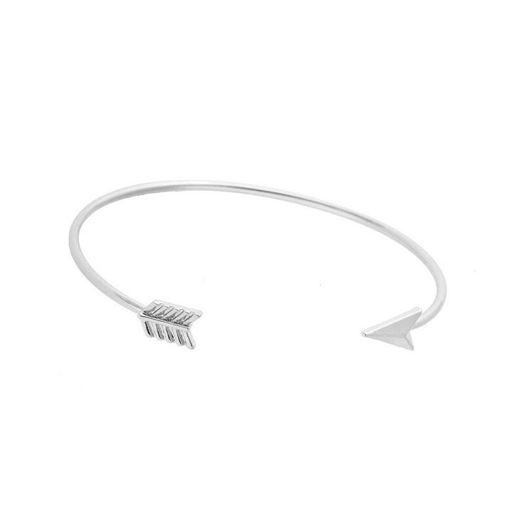 bracelet tendance argenté  #braceletmanchette