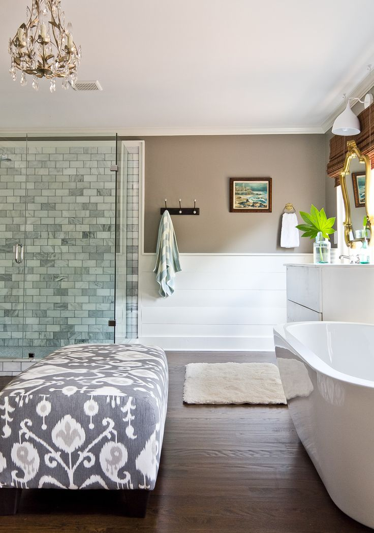 pictures to hang in master bathroom%0A Bathroom via Milk and Honey Home
