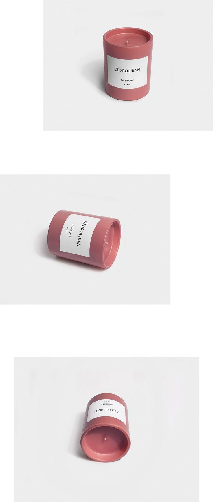 OVEROSE Cedroliban is an olibanum/cedarwood fragranced candle featuring the co-distillation of olibanum resinoid with a virginian cedarwood oil