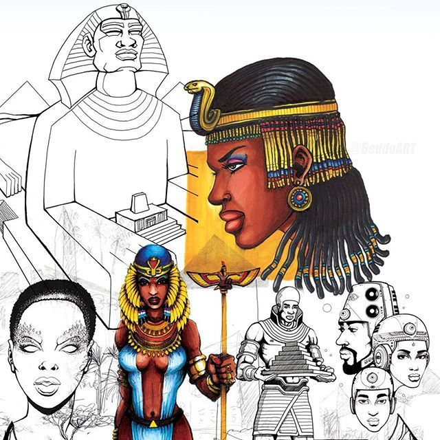 The Kingdom of Kemet  #FanExpo #Toronto 2016 Countdown - 2 DAYS! This is one of the pages featured in my brand new #Artbook 'elevation - the art of Beddo'. Exclusive premiere of the dopeness will be this weekend at #fanexpocanada . Dont Sleep!! #BeddoArt #BeddoComics #BlackComics #BlackArt #AfroFuturism #DopeArt #StayWoke #ArtIsLife #Sketchbook #Sketchdaily #illustration #Kemet #Egypt #Consciousness #Blackgirlmagic #queen #installer #artdaily #StayWoke #elevation