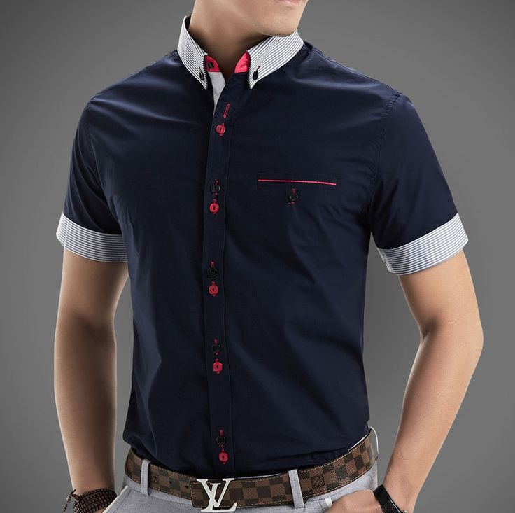 New 2014 Italian Dress shirts Men's Blouses Short-sleeve ...