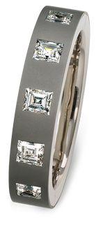 Hemmerle bracelet ~ diamonds, white gold, stainless steel