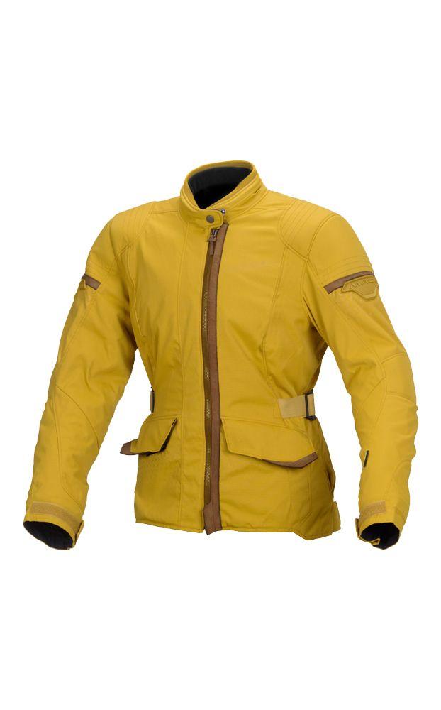 OUR FAVOURITE! Macna Shine Ladies Textile Motorcycle Jacket - Ochre - LadyBiker.co.uk