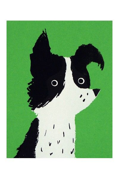 Border Collie Card by Lisa Jones