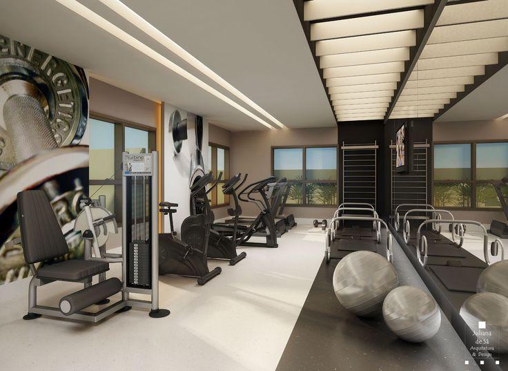 Neste espaço clean e contemporâneo, o uso de espelhos cria um ambiente estimulante e prático para se exercitar quase sem sair de casa.