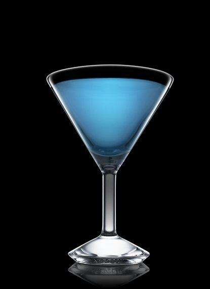 Blue Dolphin Martini - Fill a mixing glass with ice cubes. Add all ingredients. Stir and strain into a chilled cocktail glass. 6 Parts Absolut Vodka, 1 Part Blue Curacao, 1 Part Peach Schnapps