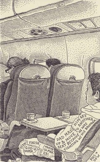 Airplane Drawing #3: Philadelphia to Dallas/Ft. Worth