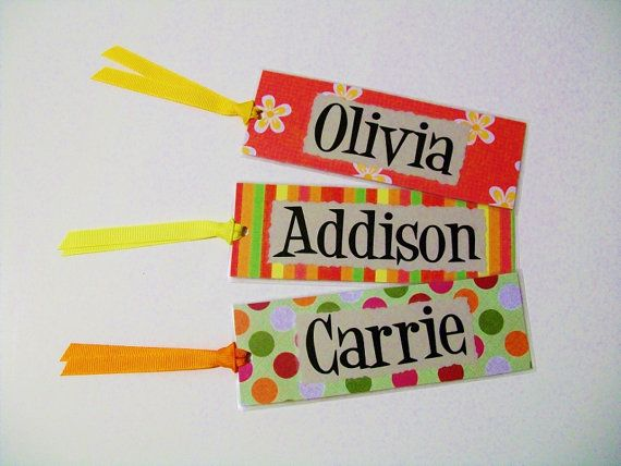 Personalized Bookmarks / Personalized Gifts / Classroom Gift / Gifts for Kids via Etsy