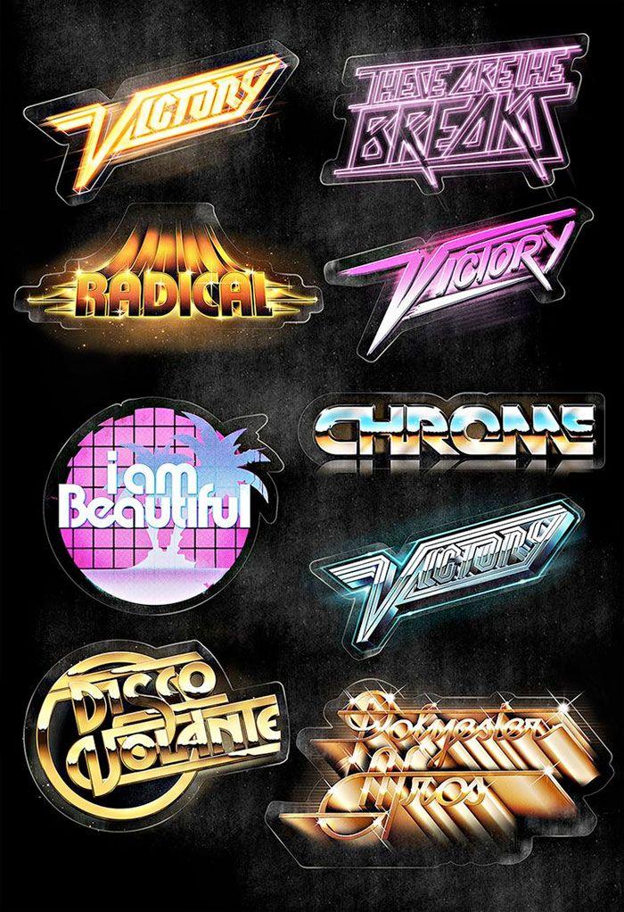 I love the #nostalgia of retro designs. I love it even more when it is #retro #typography !