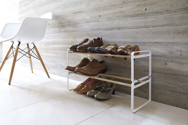 Amazon.com: YAMAZAKI home Plain Shoe Rack, Black: Home & Kitchen