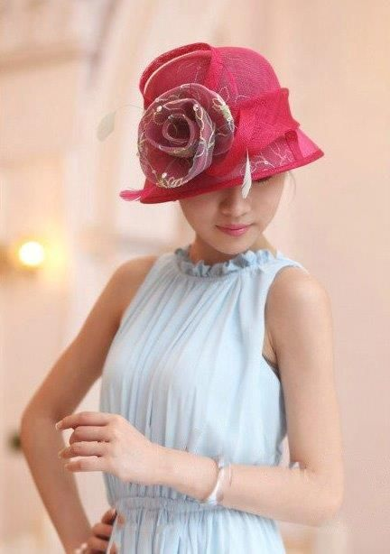"""""""Louise"""" Rose Pink Hat Fascinator $89.95 includes FREE Shipping Australia Wide"""