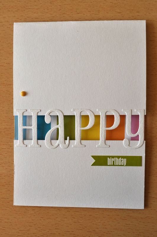 deux cartes clean simple cdes bricoles cards birthdays pinterest cards birthday cards and birthday