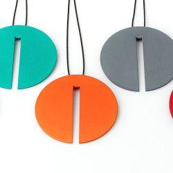 Viktor Kalinowski, Mars pendant - lime, jade, orange, steel, red copy