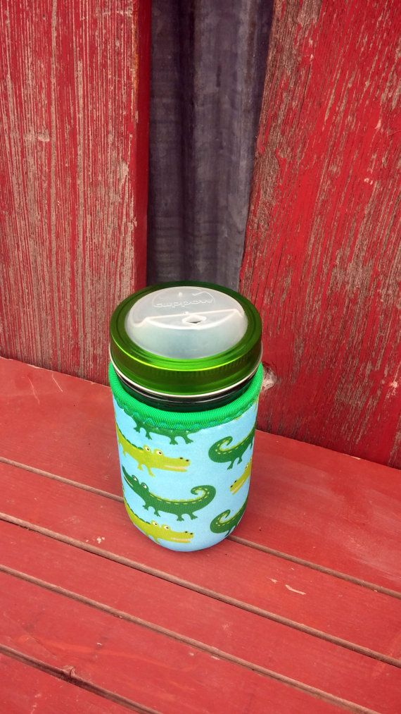 Mason Jar Tumbler with Cozy | 12 oz Mason Drinking Jars, Cuppow Drinking Lid & Koozie | To Go 12 oz Wide Mouth | Ball Jar | Kids ECO Glass