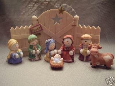 Sarah S Attic 8 Pc Snowonder Nativity Set Snowonders 06