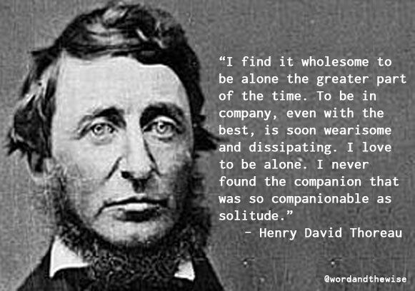 From Walden by Henry David Thoreau. #quotes #books #solitude