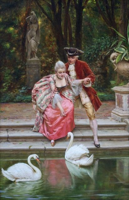 More Pretty Pink Illustration Art at: http://www.pinterest.com/oddsouldesigns/illustrate-the-rainbow-pinks/ #baroque #painting