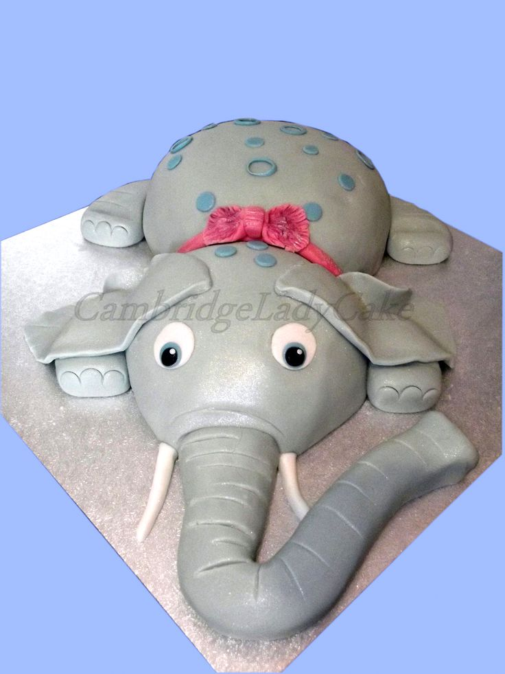 3D Baby  Elephant, Baby Shower cake