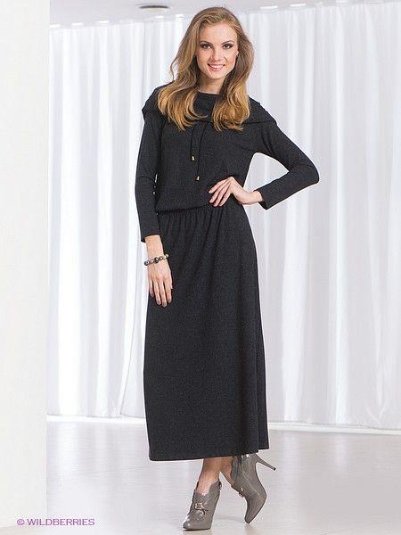 Платье МадаМ Т. Цвет темно-серый. Категории: Длинные платья, Платья, Повседневные платья.