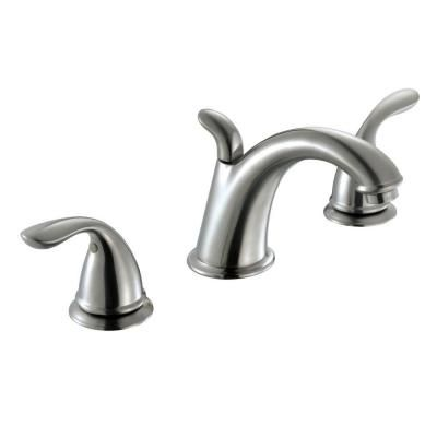 Glacier Bay Builders 8 in. Widespread 2-Handle High-Arc Bathroom Faucet in Brushed Nickel-67275-8004 at The Home Depot