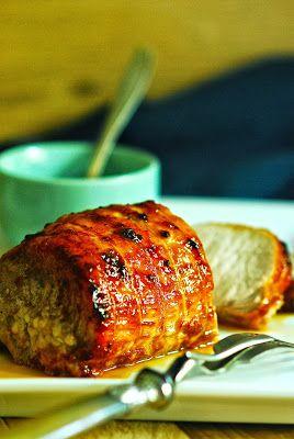 Rôti de porc au miel et au gingembre
