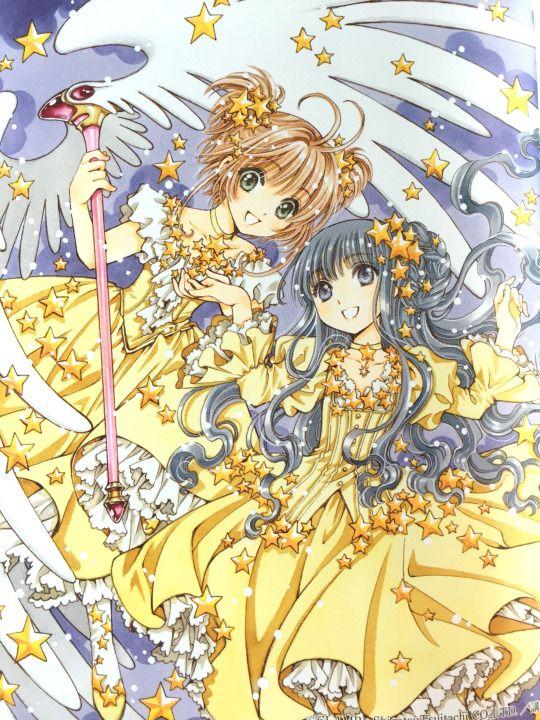 Sakura Kinomoto (木之本さくら) & Tomoyo Daidouji (大道寺知世)   Cardcaptor Sakura (カードキャプターさくら), CCS, Cardcaptors, Card Captor Sakura   CLAMP