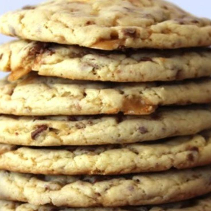 Heath Toffee Cake Mix Cookies Recipe | Just A Pinch Recipes