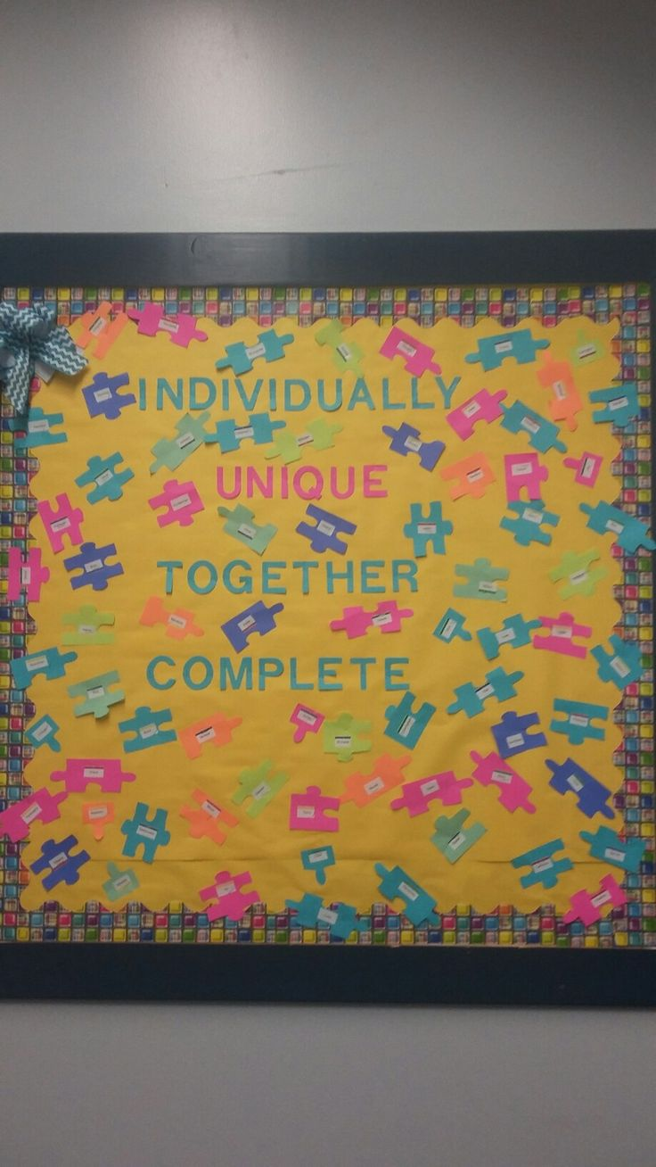 Classroom Decor Middle School ~ Best puzzle bulletin boards ideas on pinterest
