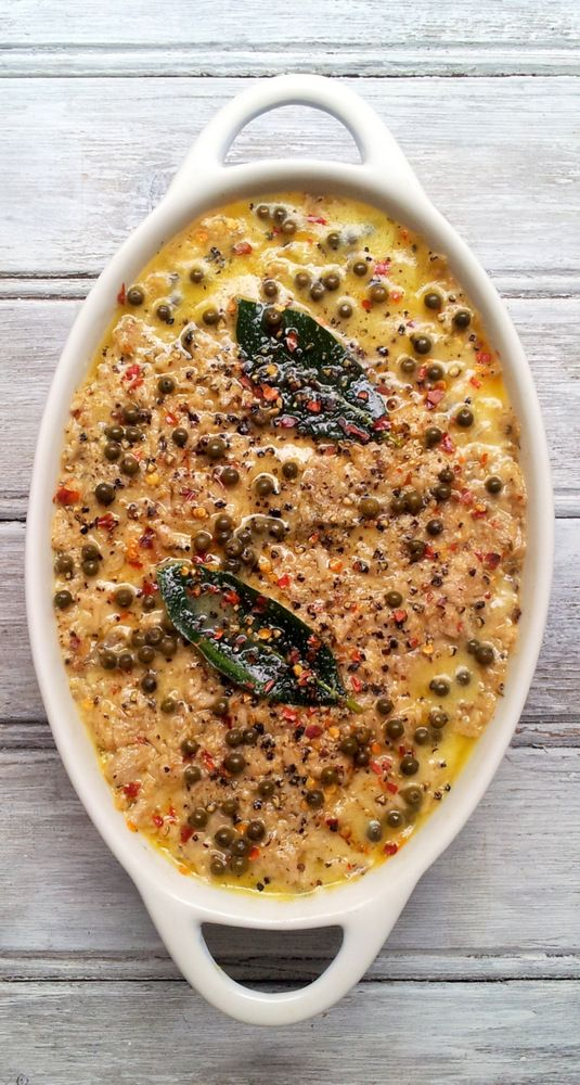 Potted Pork Shoulder with Green Peppercorns, from the leftovers of a roast. And how to slow-roast a pork shoulder...