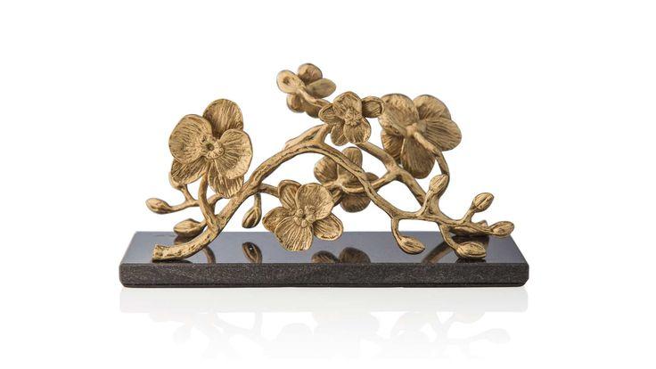 """Подставка для салфеток 20см """"Золотая орхидея"""""""