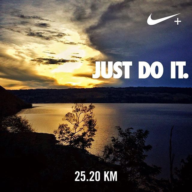 I just did it: 25K Samosir Lake Toba Ultra Run. #nikeplus #justdoit #sunrise #morningrun #myrun #running #instarunners #laketoba #danautoba #samosir #25k #wonderfulindonesia #samosirultrarun #instatravel #instatravellers #wanderlust #dawn #yellow #goodmorning #samosirlaketobaultra2016