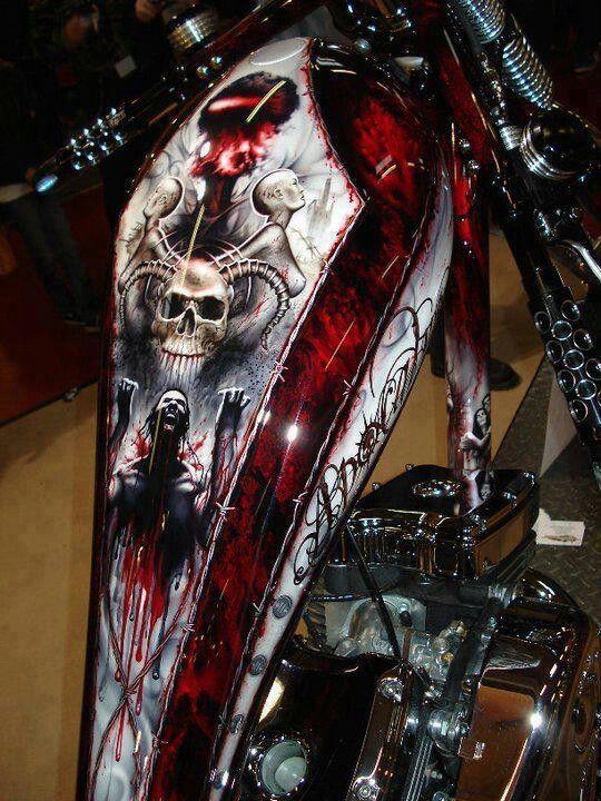 Chopper: Harley, Awesome Paint, Custom Choppers, Custom Bike, Paint Job