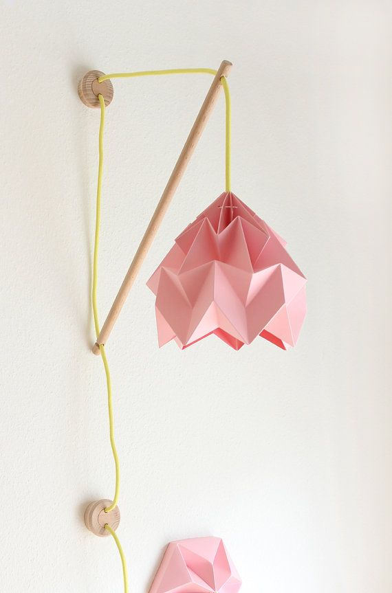 Wall fixture Klimoppe with paper lamp Moth by nellianna on Etsy, €129.00