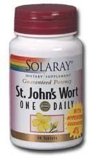 Solaray - One Daily St. John's Wort - - 30 tablets by Solaray. $13.29. Size:          30ct 900mg           Directions:         As a dietary supplement,    take 1 tablet daily with a meal or a glass of water.              Serving Size:          1 Tablet  30 Servings    per container                                                    Ingredients:                      Amount per serving:               %        Daily Value: +                           St.        Johns ...
