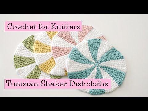 *** Tunisian Shaker Dishcloths - YouTube