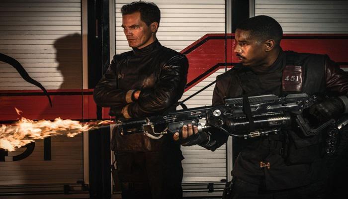 Michael B. Jordan et Michael Shannon sur la première photo de la nouvelle version de Fahrenheit 451, produite par la chaîne américaine HBO