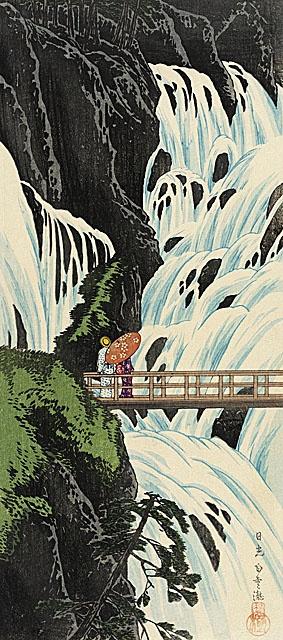 Takahashi Shotei (Hiroaki) 'Shiraqumo Waterfall of Nikko' late 1910's Japan