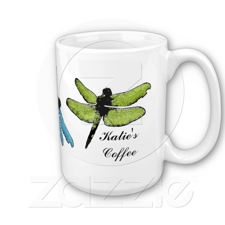 """Dragonfly Mug now in our Zazzle shop. """"Native Americans believe that the dragonfly represents happiness, speed, purity, transformation and process of change."""" 