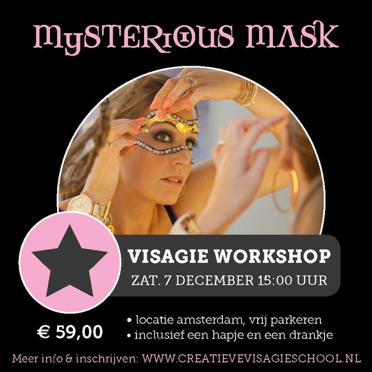 Visagieworkshop Amsterdam Thema: Mysterious Mask
