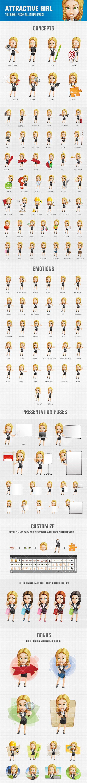 Attractive Girl Cartoon Character #cartooncharacter #vectorcharacter #character